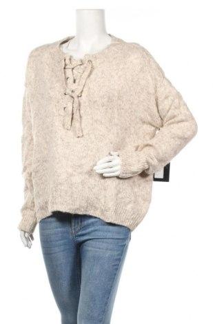 Дамски пуловер Cliche, Размер XL, Цвят Бежов, 55% акрил, 40% полиамид, 5% вълна, Цена 24,15лв.