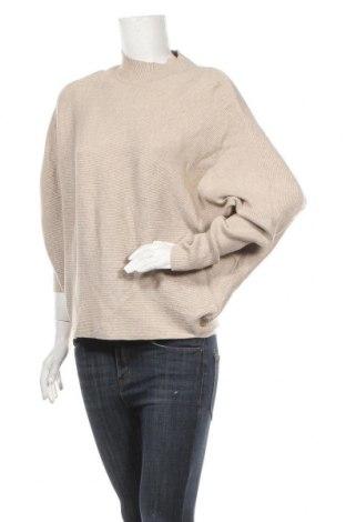 Γυναικείο πουλόβερ Decjuba, Μέγεθος S, Χρώμα  Μπέζ, 50% βισκόζη, 27% πολυεστέρας, 23% πολυαμίδη, Τιμή 5,23€