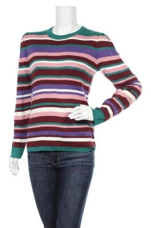Дамски пуловер Dotti, Размер L, Цвят Многоцветен, 51% акрил, 41% памук, 8% метални нишки, Цена 17,75лв.