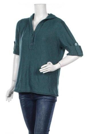 Дамски пуловер Dressbarn, Размер L, Цвят Зелен, 87% акрил, 13% полиестер, Цена 9,56лв.