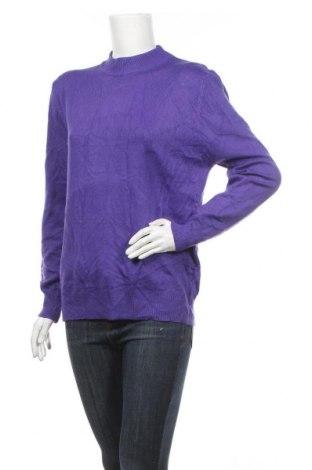 Дамски пуловер Elegant, Размер XL, Цвят Лилав, Акрил, еластан, Цена 29,93лв.