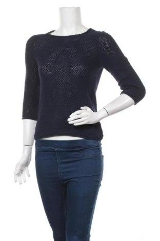 Дамски пуловер Esmara, Размер XXS, Цвят Син, Памук, Цена 6,30лв.