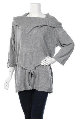 Дамски пуловер Expression, Размер XXL, Цвят Сив, Акрил, Цена 19,11лв.