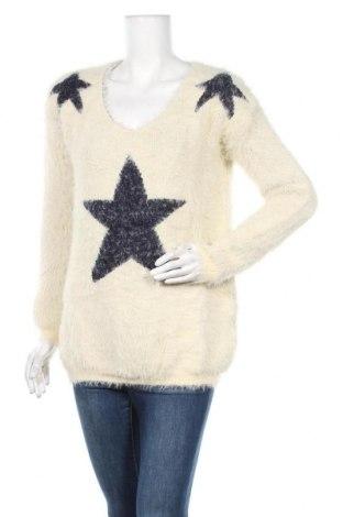 Дамски пуловер, Размер L, Цвят Екрю, 50% акрил, 50% полиестер, Цена 11,34лв.