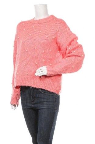 Дамски пуловер Gina Tricot, Размер M, Цвят Розов, 56% акрил, 20% полиестер, 16% вълна, 8% мохер, Цена 13,65лв.
