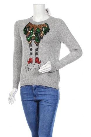 Дамски пуловер H&M, Размер XS, Цвят Сив, 90% полиамид, 10% вълна от алпака, Цена 9,56лв.