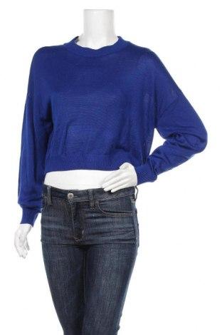 Дамски пуловер H&M, Размер L, Цвят Син, 55% вискоза, 45% акрил, Цена 25,20лв.