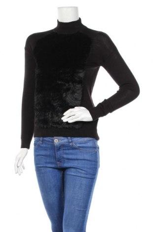 Дамски пуловер H&M, Размер XXS, Цвят Черен, 50% акрил, 46% вълна, 4% полиамид, Цена 13,28лв.