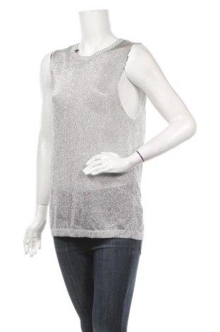 Дамски пуловер H&M, Размер XS, Цвят Сребрист, 75% вискоза, 25% метални нишки, Цена 7,25лв.