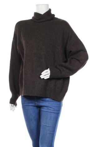 Дамски пуловер H&M, Размер L, Цвят Сив, 62% акрил, 28% полиамид, 8% вълна, 2% еластан, Цена 11,76лв.