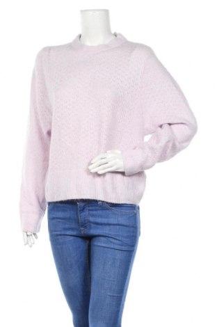 Дамски пуловер H&M, Размер L, Цвят Лилав, 43% полиамид, 20% акрил, 19% мохер, 13% вълна, 5% еластан, Цена 19,85лв.