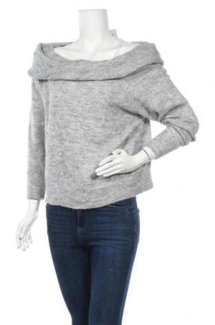 Дамски пуловер H&M Divided, Размер M, Цвят Сив, 56% акрил, 23% полиамид, 12% вълна, 5% вълна от алпака, 4% еластан, Цена 10,66лв.