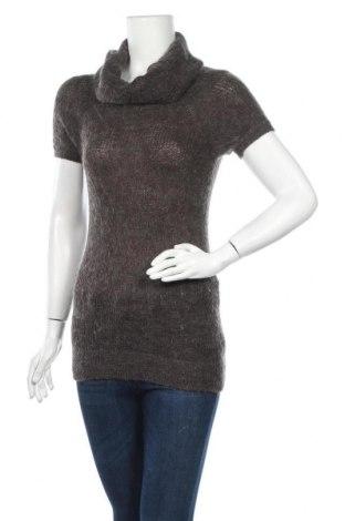 Дамски пуловер H&M Divided, Размер XS, Цвят Сив, 55% акрил, 30% полиестер, 15% мохер, Цена 6,04лв.