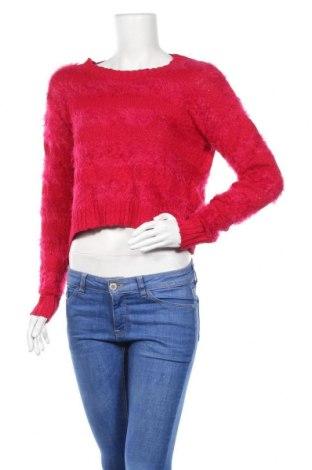 Дамски пуловер Hot Options, Размер M, Цвят Розов, Памук, полиамид, акрил, Цена 9,61лв.