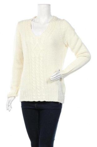 Дамски пуловер Hucke, Размер L, Цвят Екрю, 50% акрил, 50% вълна, Цена 21,84лв.