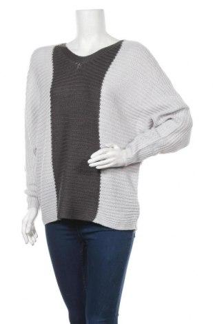 Дамски пуловер Jean Pascale, Размер M, Цвят Сив, 100% акрил, Цена 7,09лв.