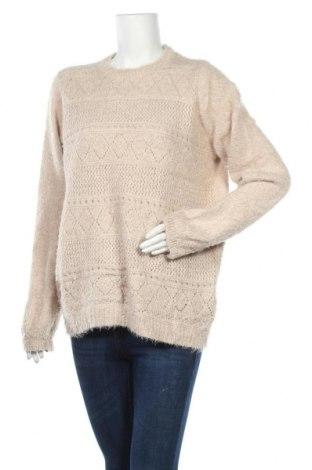 Γυναικείο πουλόβερ Jean Pascale, Μέγεθος XL, Χρώμα  Μπέζ, 75% πολυεστέρας, 25%ακρυλικό, Τιμή 19,74€
