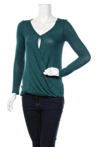 Дамски пуловер Jennyfer, Размер XS, Цвят Зелен, 70% вискоза, 27% полиестер, 3% еластан, Цена 13,00лв.