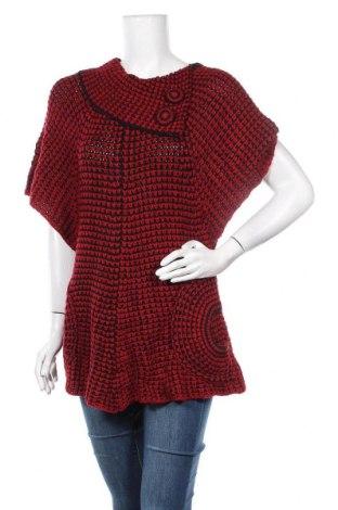 Дамски пуловер Lace, Размер L, Цвят Червен, Акрил, Цена 30,45лв.