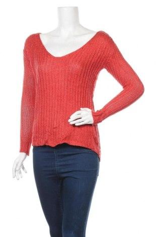 Дамски пуловер Laura Scott, Размер S, Цвят Червен, 80% акрил, 20% метални нишки, Цена 19,64лв.