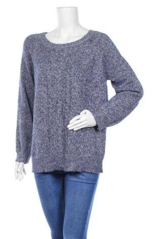 Дамски пуловер Laura Scott, Размер M, Цвят Син, 59% памук, 24% акрил, 15% полиестер, 2% други нишки, Цена 19,11лв.