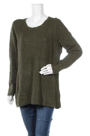Γυναικείο πουλόβερ Loft, Μέγεθος XL, Χρώμα Πράσινο, 64% βαμβάκι, 16% βισκόζη, 15% πολυαμίδη, 5% μαλλί, Τιμή 24,03€