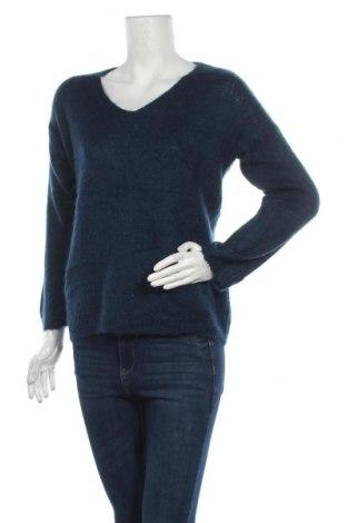 Дамски пуловер Made In Italy, Размер M, Цвят Син, 30% мохер, 30% полиамид, 40% акрил, Цена 20,58лв.