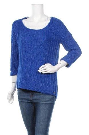 Дамски пуловер Mexx, Размер M, Цвят Син, 48% памук, 48% вискоза, 4% полиестер, Цена 24,15лв.