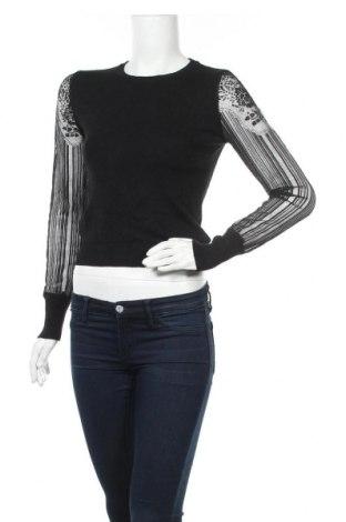 Дамски пуловер Miss Valley, Размер S, Цвят Черен, 70% вискоза, 30% полиамид, Цена 19,11лв.