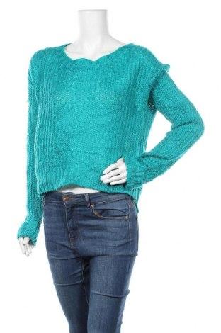 Γυναικείο πουλόβερ No Boundaries, Μέγεθος M, Χρώμα Μπλέ, 95%ακρυλικό, 5% μεταλλικά νήματα, Τιμή 16,66€