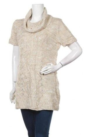 Дамски пуловер No Boundaries, Размер XL, Цвят Бежов, Акрил, Цена 19,11лв.