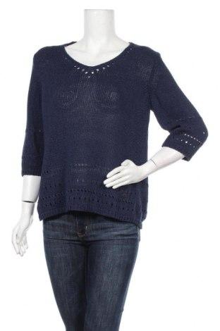Γυναικείο πουλόβερ Olsen, Μέγεθος L, Χρώμα Μπλέ, 42% βαμβάκι, 42%ακρυλικό, 16% πολυεστέρας, Τιμή 16,05€