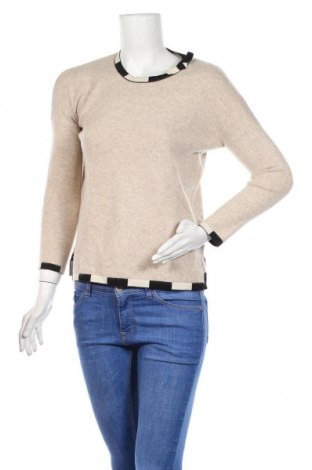 Γυναικείο πουλόβερ Paule Ka, Μέγεθος M, Χρώμα  Μπέζ, 70% μαλλί, 30% κασμίρι, Τιμή 50,79€