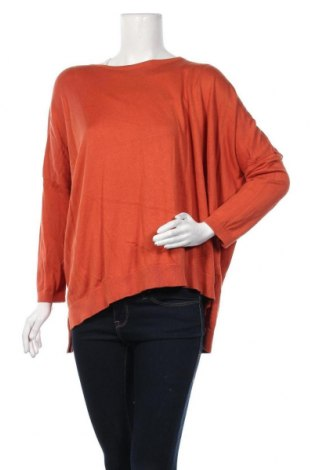 Дамски пуловер Planet by Lauren G, Размер L, Цвят Оранжев, Памук, модал, Цена 24,57лв.