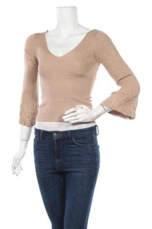 Дамски пуловер Red Berry, Размер S, Цвят Бежов, 92% вискоза, 8% еластан, Цена 15,44лв.