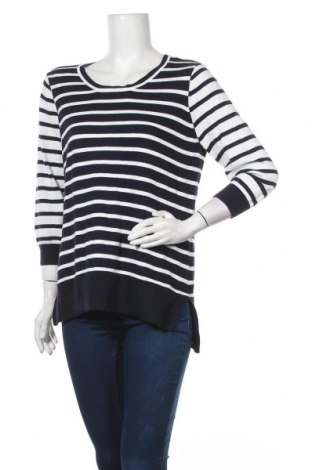 Дамски пуловер Rockmans, Размер M, Цвят Син, Памук, Цена 35,70лв.