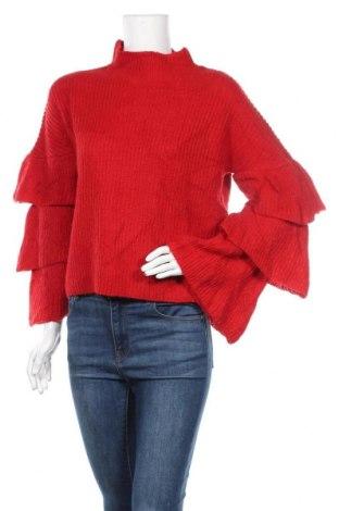 Дамски пуловер Ruby Moon, Размер M, Цвят Червен, 46% акрил, 29% полиамид, 15% вълна, 10% мохер, Цена 21,16лв.