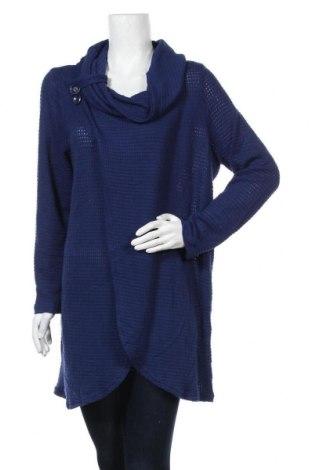 Γυναικείο πουλόβερ Sarar, Μέγεθος XL, Χρώμα Μπλέ, 62% πολυεστέρας, 34% βισκόζη, 4% ελαστάνη, Τιμή 17,54€