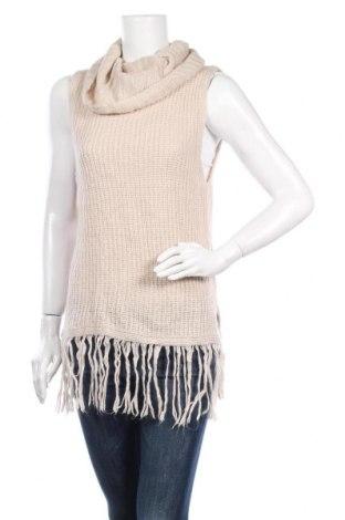 Дамски пуловер Society, Размер S, Цвят Бежов, Акрил, Цена 6,04лв.