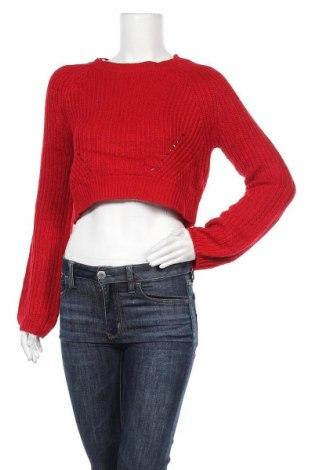 Дамски пуловер Supre, Размер M, Цвят Червен, Акрил, Цена 9,56лв.