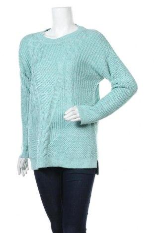 Дамски пуловер Talbots, Размер L, Цвят Син, 55% памук, 27% акрил, 18% полиестер, Цена 27,30лв.
