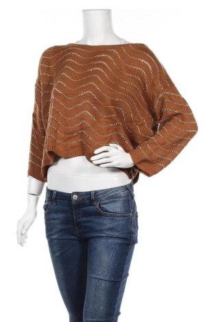 Дамски пуловер Temt, Размер L, Цвят Кафяв, 100% акрил, Цена 9,98лв.