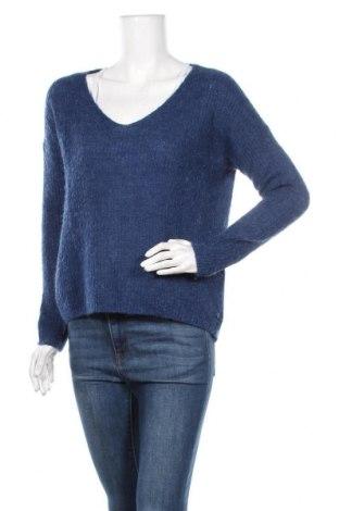 Дамски пуловер Tom Tailor, Размер S, Цвят Син, 58% полиакрил, 20% полиамид, 14% вълна, 8% мохер, Цена 22,21лв.