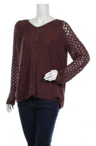 Дамски пуловер Tribal, Размер XL, Цвят Червен, 67% акрил, 33% полиестер, Цена 22,84лв.