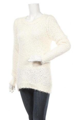 Γυναικείο πουλόβερ Up 2 Fashion, Μέγεθος M, Χρώμα Λευκό, 70% πολυεστέρας, 29% πολυαμίδη, 1% μεταλλικά νήματα, Τιμή 4,77€