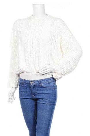 Дамски пуловер Vg, Размер S, Цвят Бял, Полиестер, Цена 21,00лв.