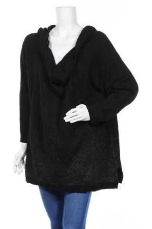 Дамски пуловер Virtuelle, Размер XXL, Цвят Черен, 59% памук, 39% акрил, 3% метални нишки, Цена 33,81лв.