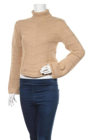 Дамски пуловер Y.o.u, Размер M, Цвят Бежов, Акрил, Цена 16,80лв.