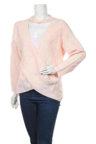 Дамски пуловер Yoins, Размер L, Цвят Розов, Акрил, Цена 24,94лв.