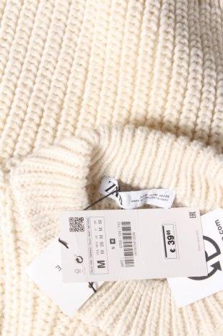 Дамски пуловер Zara, Размер M, Цвят Екрю, 49% полиестер, 46% акрил, 5% вълна, Цена 17,25лв.